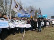Работники КМЭЗ вышли на митинг