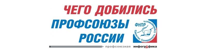 ДОСТИЖЕНИЯ ПРОФСОЮЗОВ РОССИИ