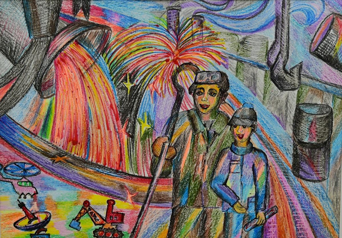 Челябинские школьники нарисовали металлургию