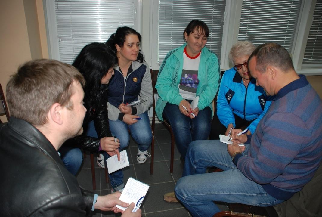 Участники активно работали в группах