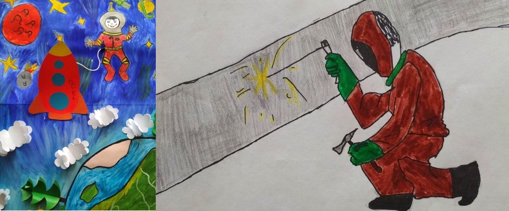 Дети саткинских горняков нарисовали будущее и профессии своих родителей