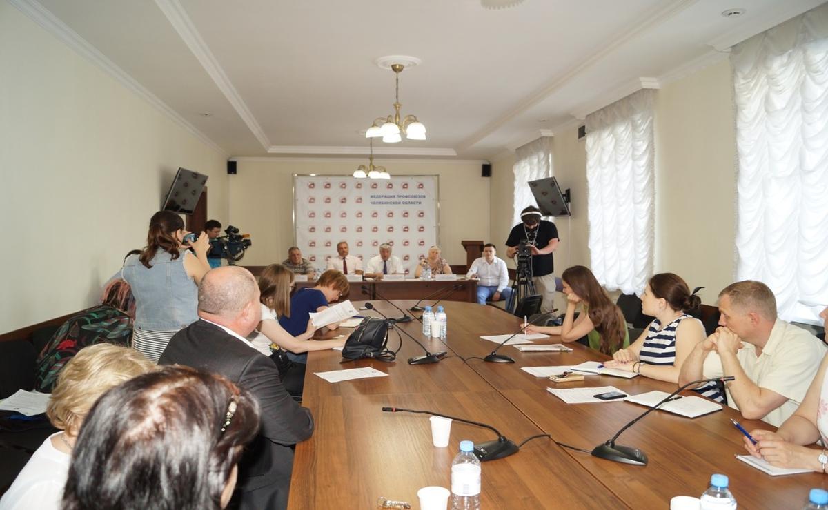 Председатель областной организации ГМПР Юрий Горанов принял участие в пресс-конференции, состоявшейся 4 июля в Федерации профсоюзов области.