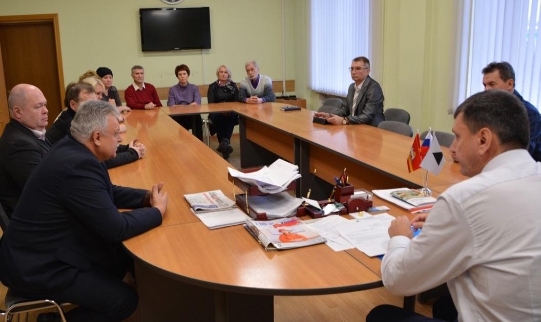 Встреча с председателем ППО Группы ММК Борисом Семеновым