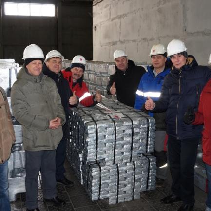 Горняки Учалинского ГОКа на Челябинском цинковом заводе