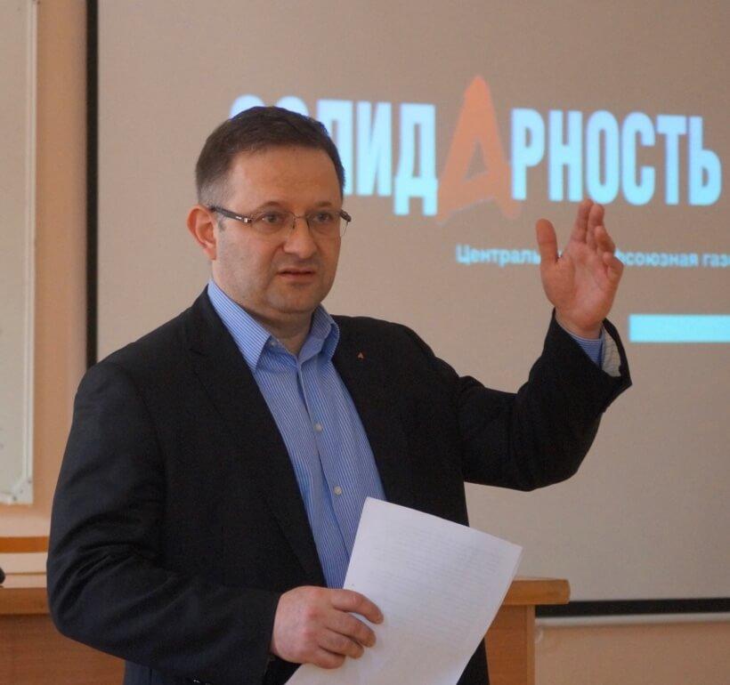 А. Шершуков, главный редактор «Солидарности»