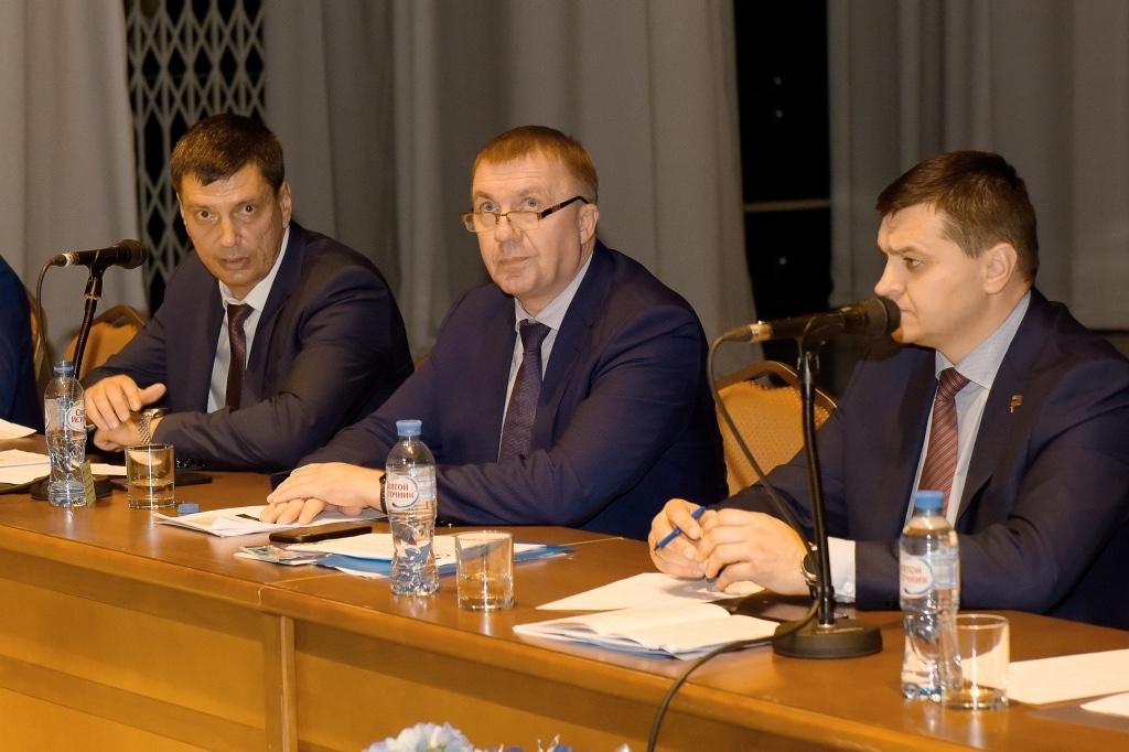 Президиум отчетной конференции ППО Группы ММК