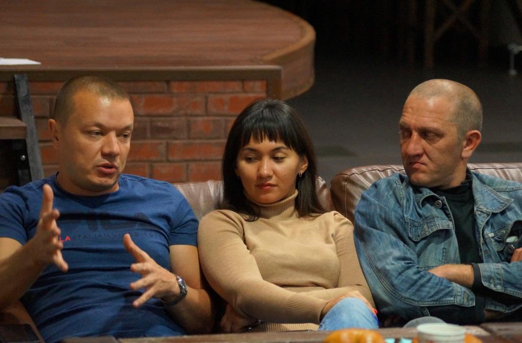 Слева направо: Дмитрий Хазиахметов (ММК), Айгуль Сабитова (ММК-МЕТИЗ), Евгений Вагин (БРУ)