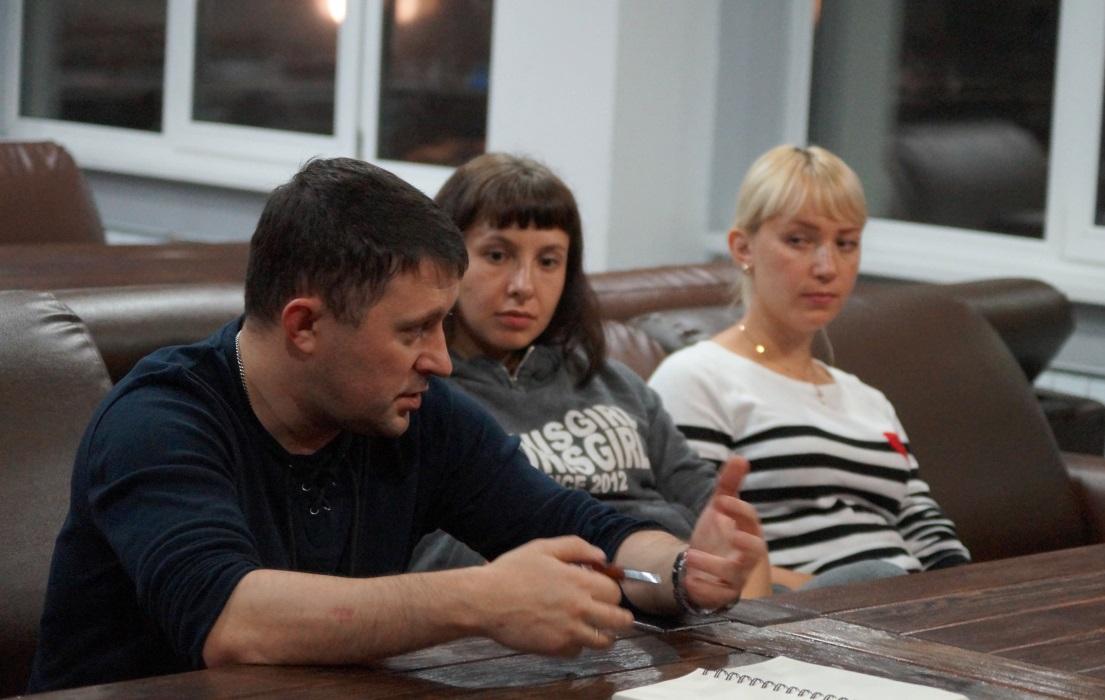 Владимир Нечаев (обком ГМПР), Вера Зимина (МетМашУфалей), Анна Гуднина (МетМашУфалей)