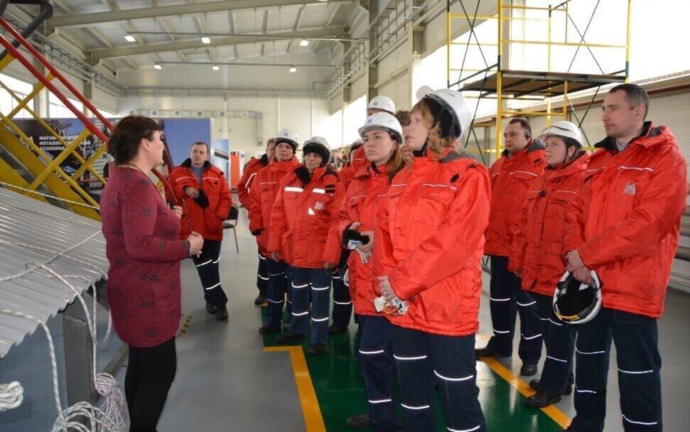 Делегация Свердловской областной организации ГМПР в Школе безопасности ММК