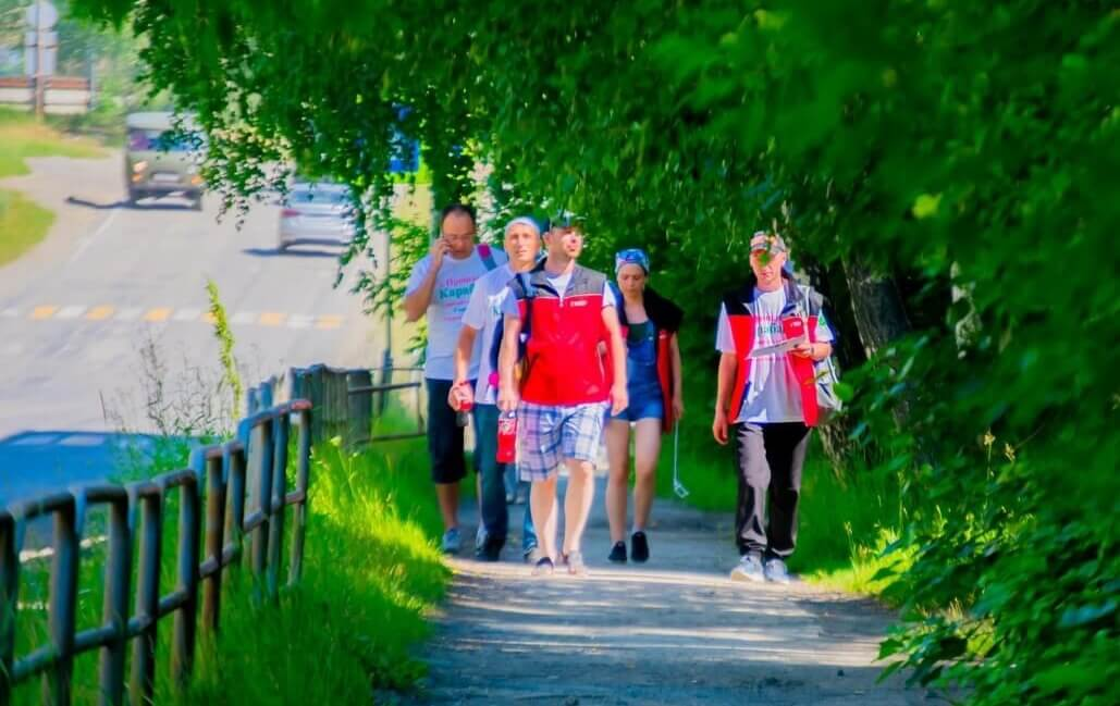 Молодежь Карабашмеди – участник федеральной геолокационной акции «Прошагай город». Июль 2019