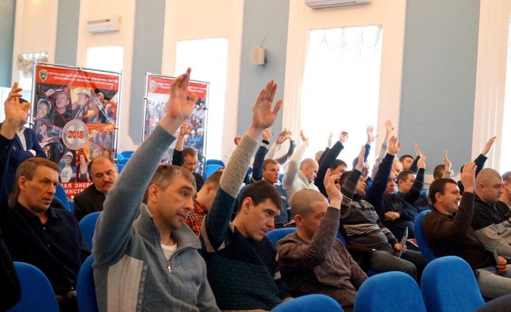Учредительная профсоюзная конференция в коллективе «СПК-Чимолаи». Февраль 2018 г.