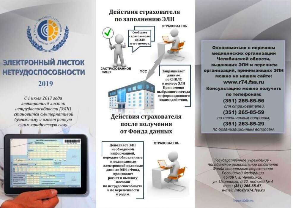 Действия страхователя в системе электронных листков нетрудоспособности