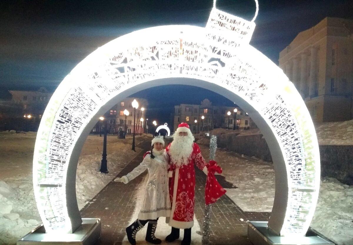 Самые классные Снегурочка и Дед Мороз