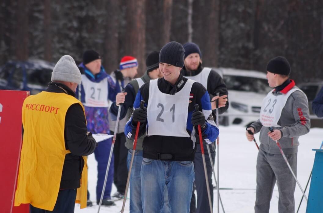 На лыжные старты вышли работники ЧЭМК всех возрастов