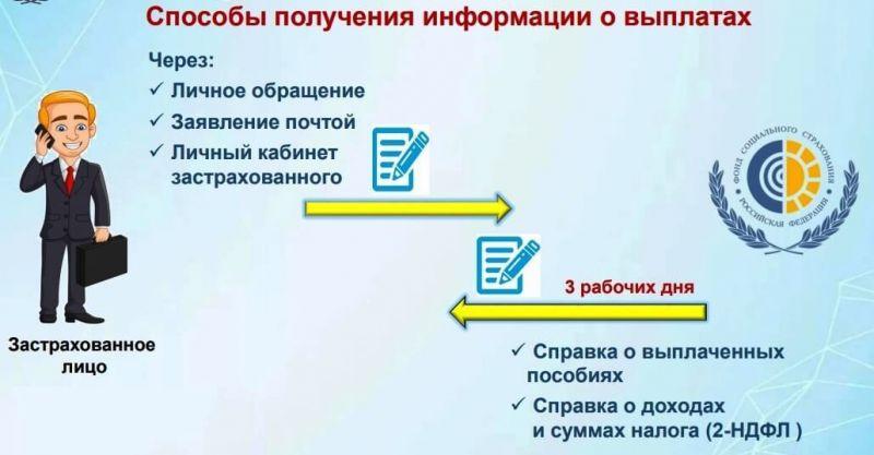 Способы получения информации о социальных выплатах