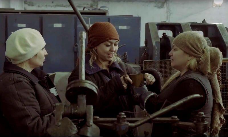 Кадр из фильма «О женской доле в годы войны». ММК-МЕТИЗ