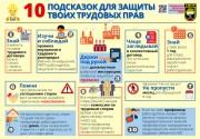 Инфографика: 10 подсказок для защиты твоих трудовых прав