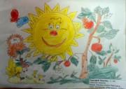 Солнце-улыбка и девочка-лето